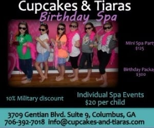 Cupcakes and tiaras ad