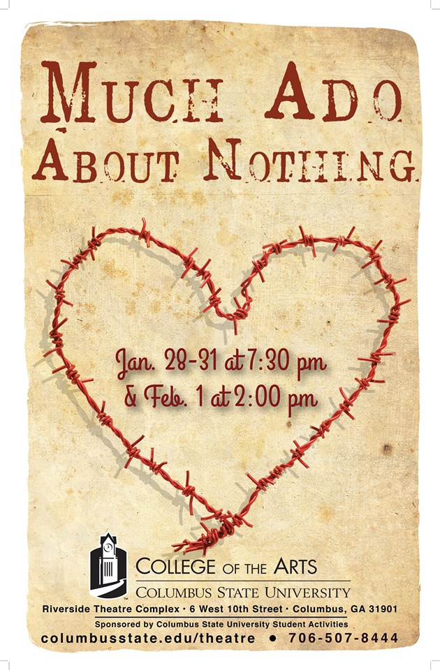 CSU Dept of Theatre presents Much Ado About Nothing @ CSU Riverside Theatre Complex | Columbus | Georgia | United States