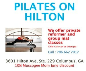 PILATES ON HILTON AD