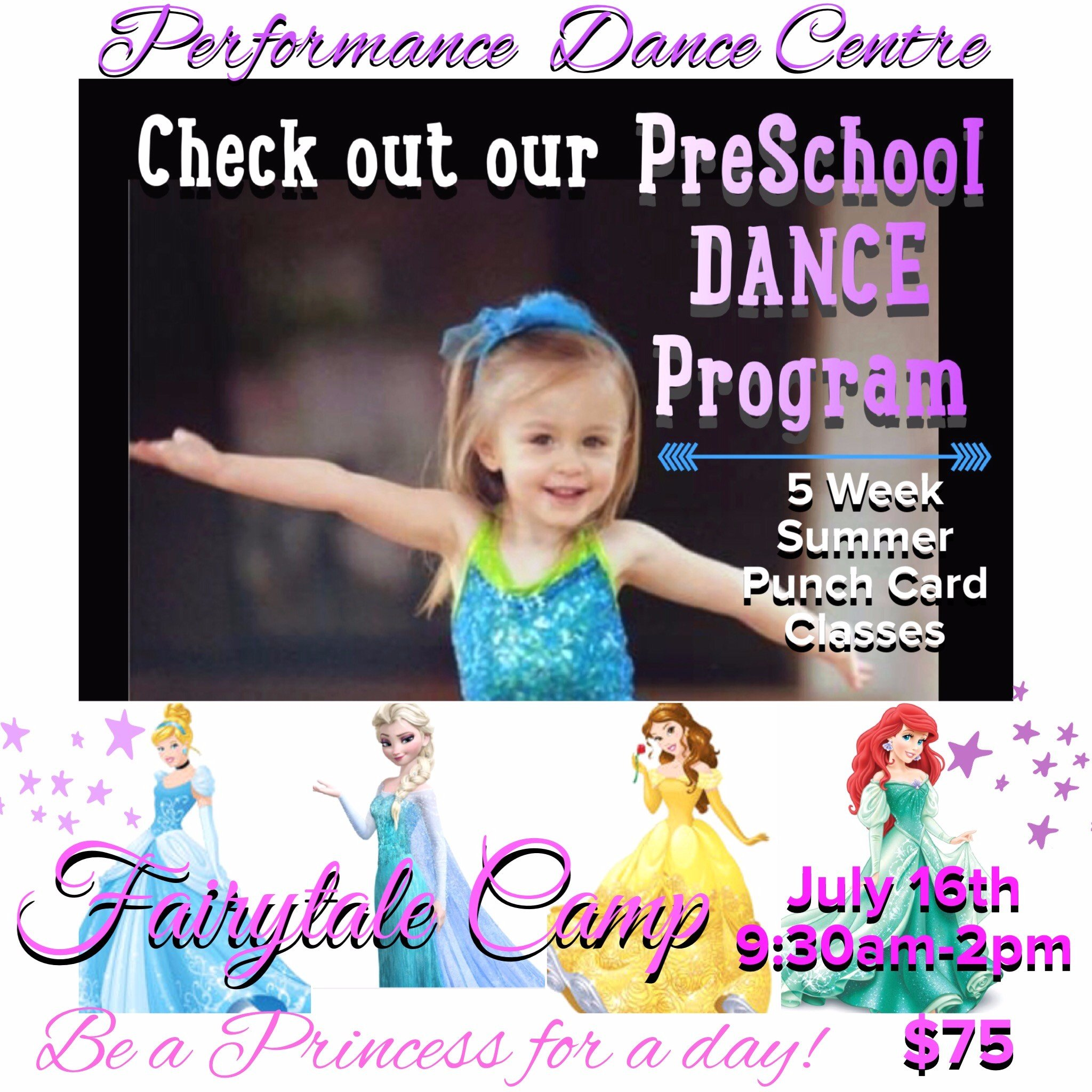 Performance Dance Preschool ad