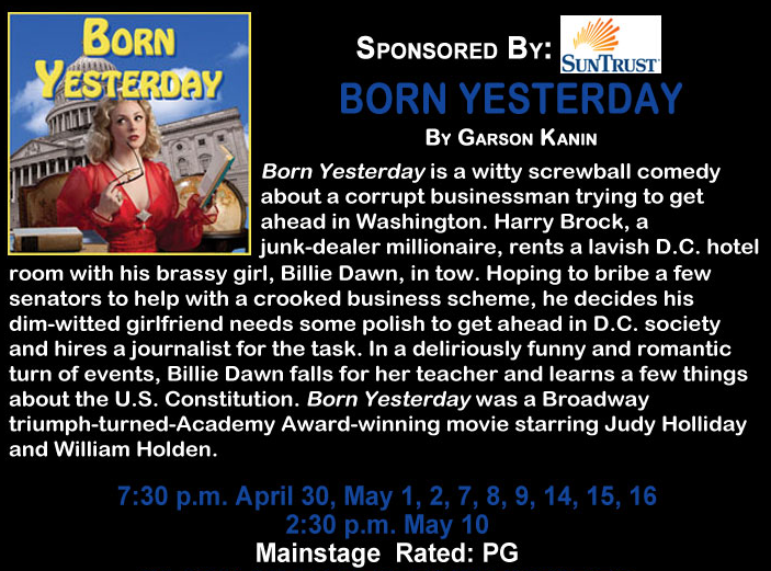 "The Springer Opera House Presents ""Born Yesterday"""