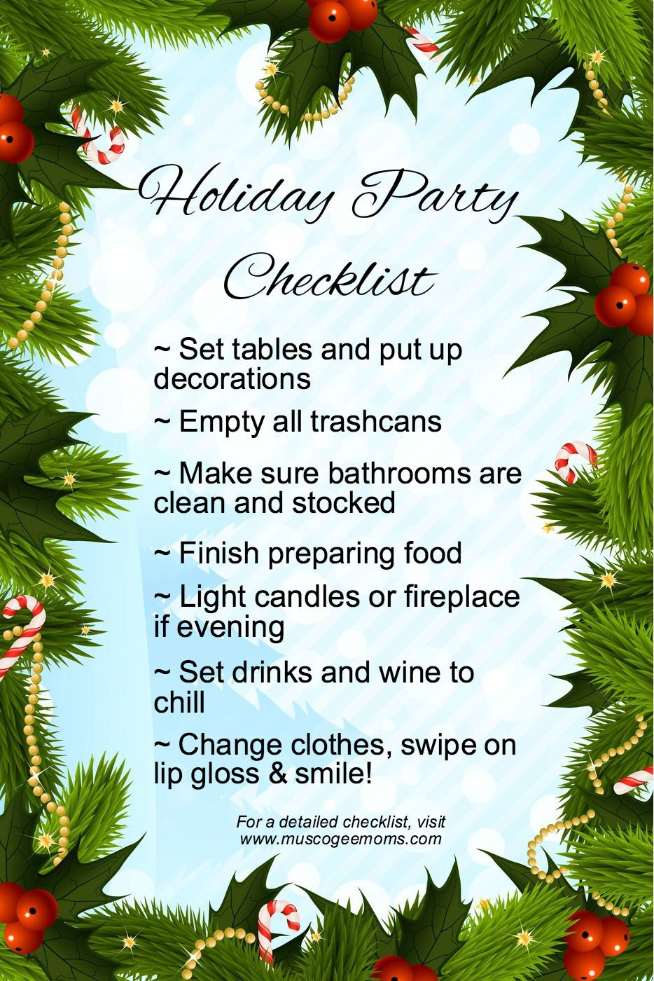 holiday party checklist