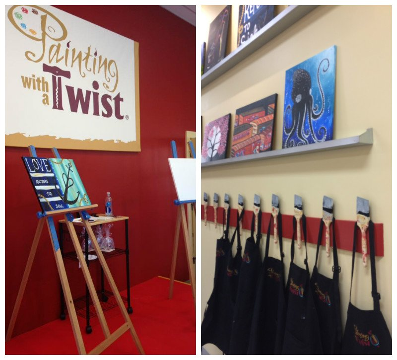Painting with at Twist studio