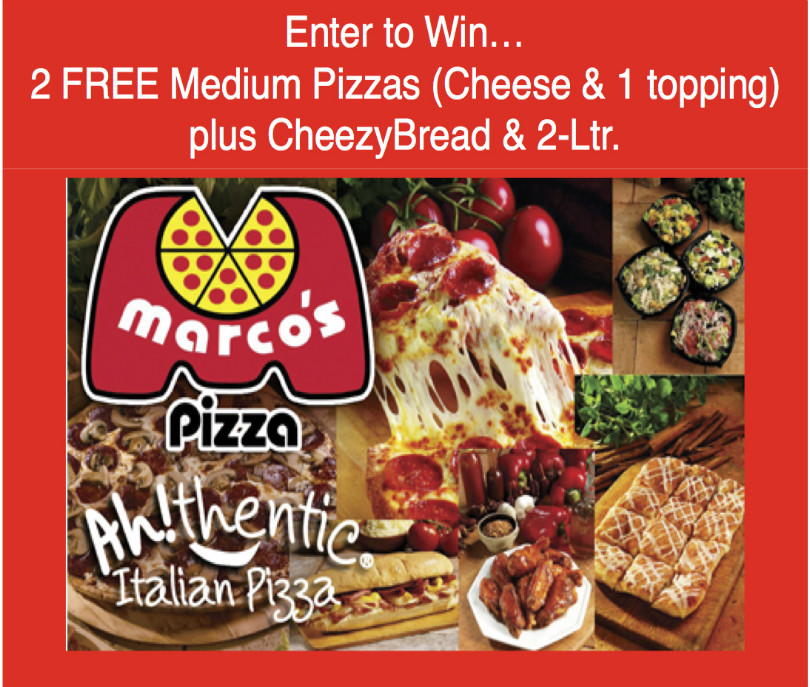 Giveaway: Marco's Pizza
