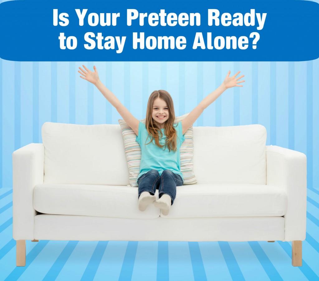 preteen home alone