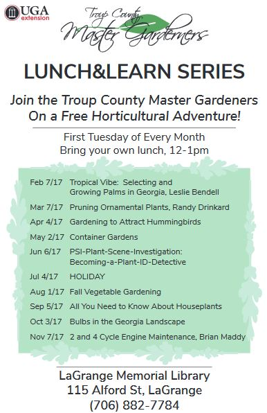 Troup Co Master Gardeners Lunch N Learn Muscogee Moms