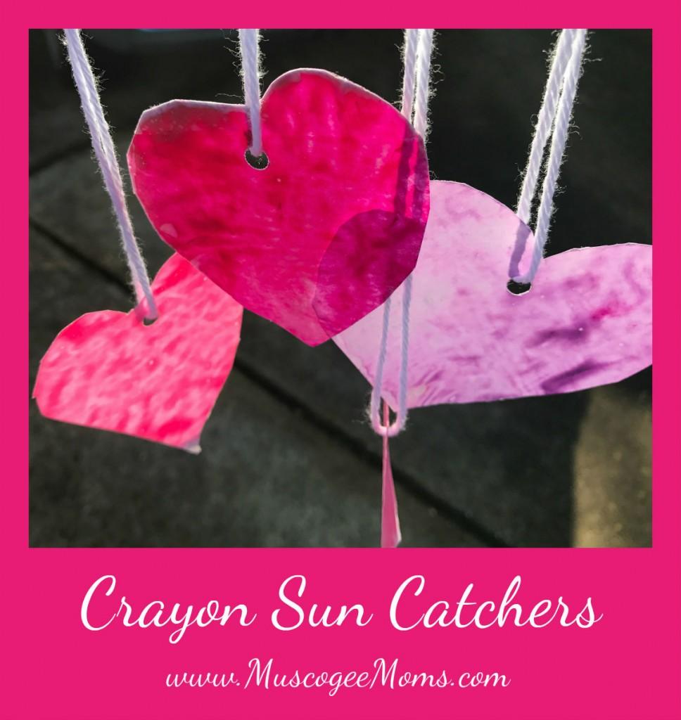 crayon sun catchers