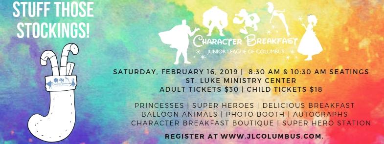 Character Breakfast 2019 ad