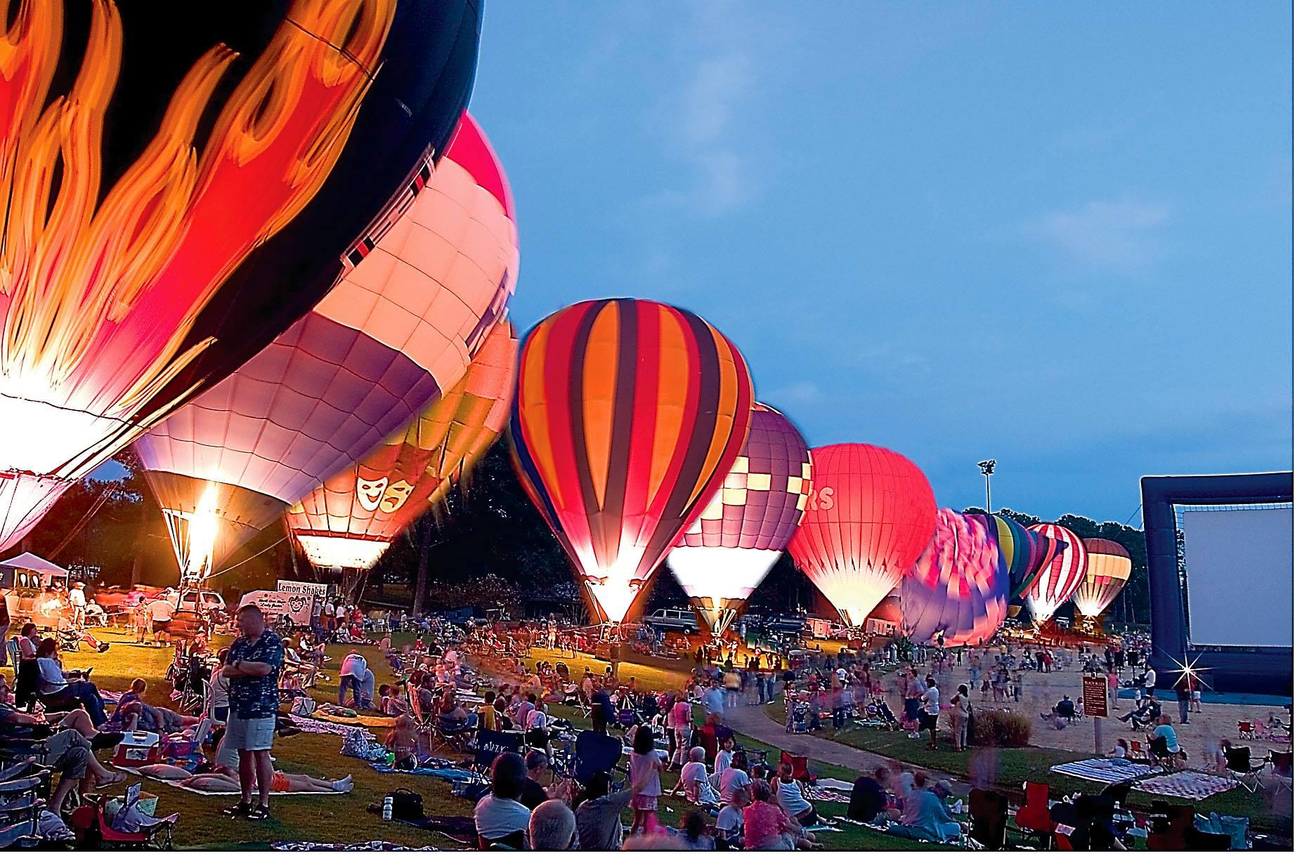 sky high hot air balloon fest