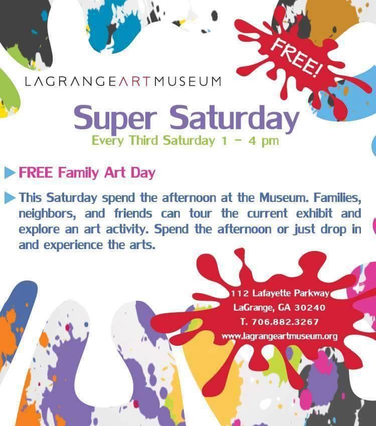 Super Saturday at LaGrange Art Museum