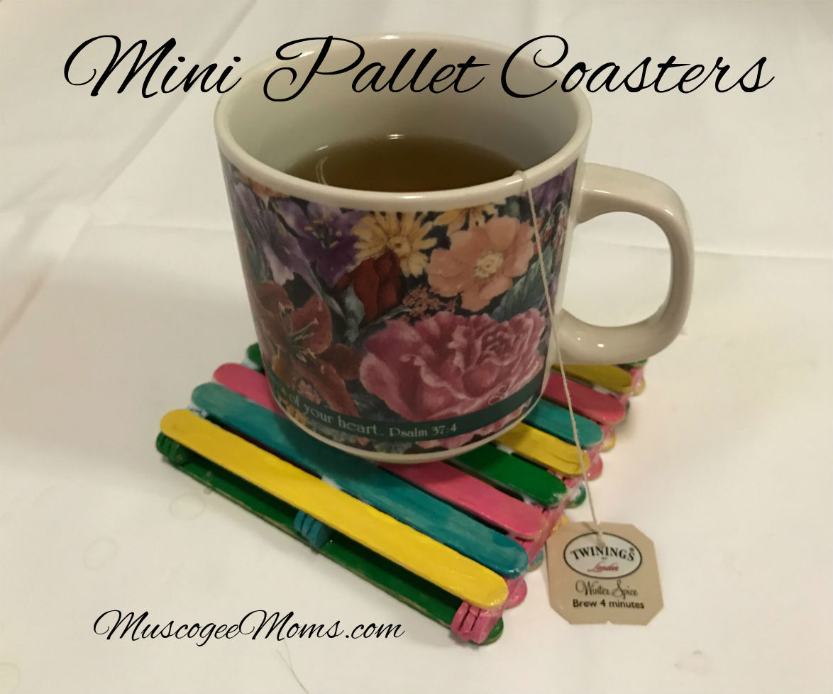 Craft: Mini Pallet Coasters