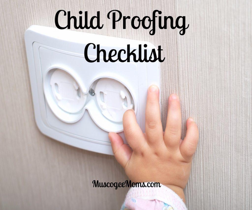 child proofing checklist