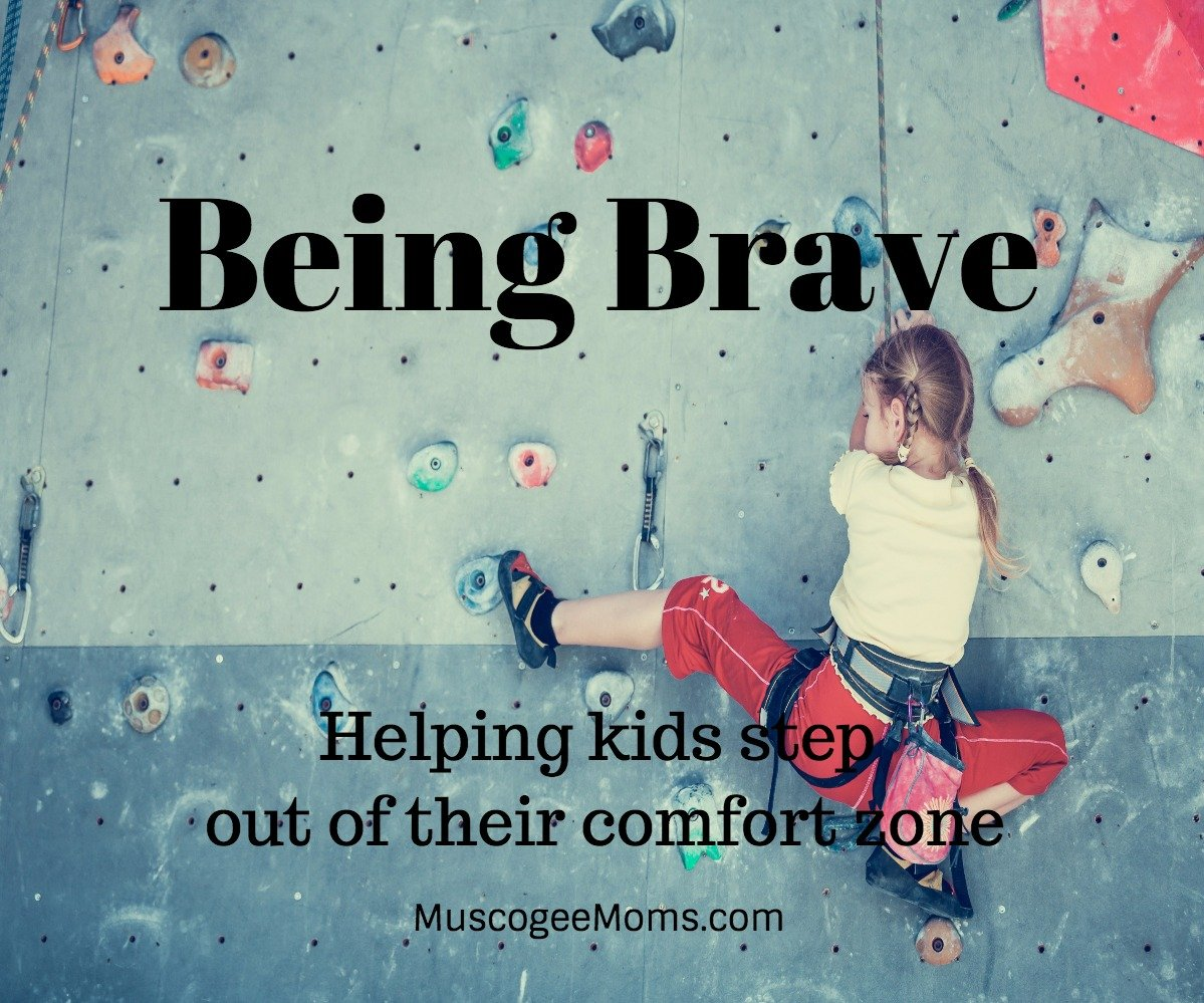 being brave  stepping out of our comfort zone