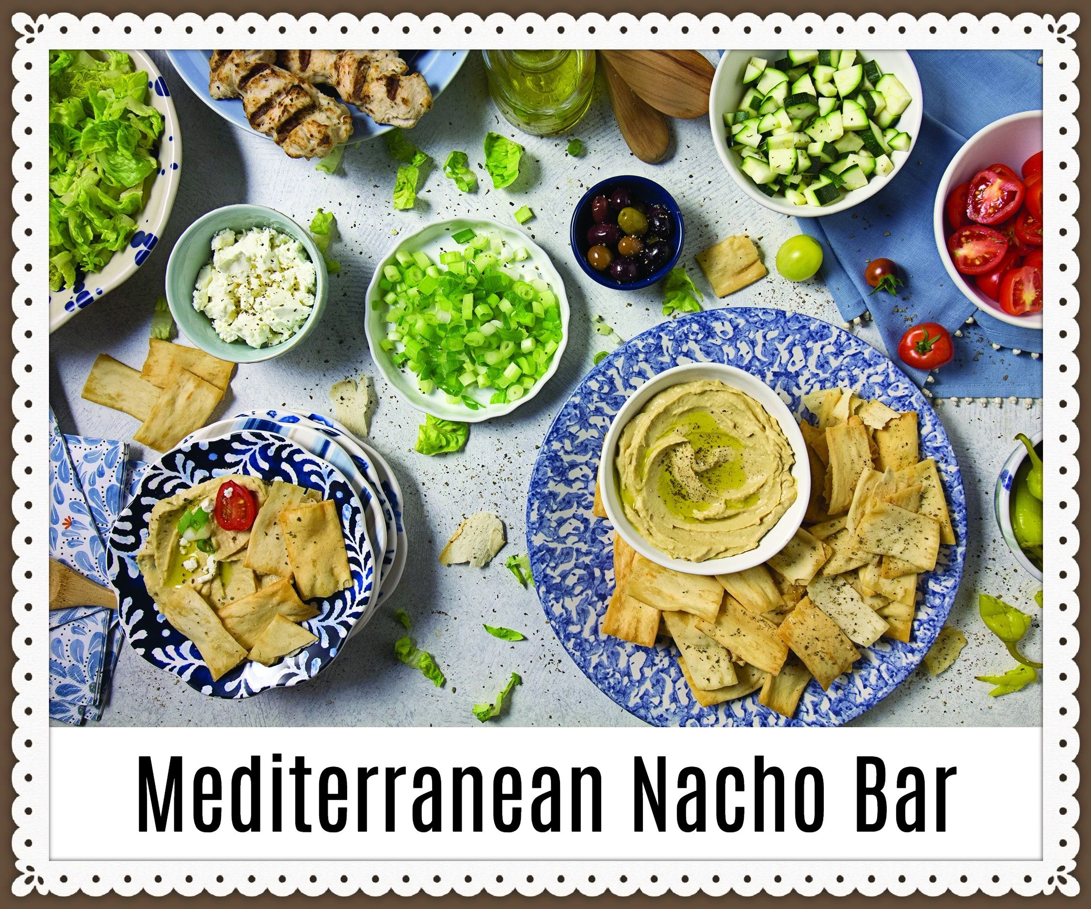 Tasty Cooking: Mediterranean Nacho Bar