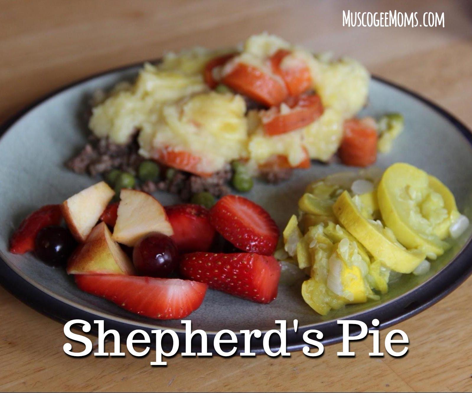 Baking with Kids: Shepherd's Pie