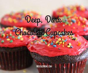 Baking with Kids: Deep, Dark Chocolate Cupcakes