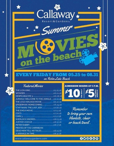 Callaway Movies on the Beach
