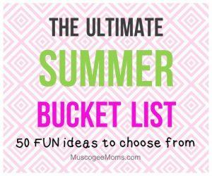 summer family bucket list