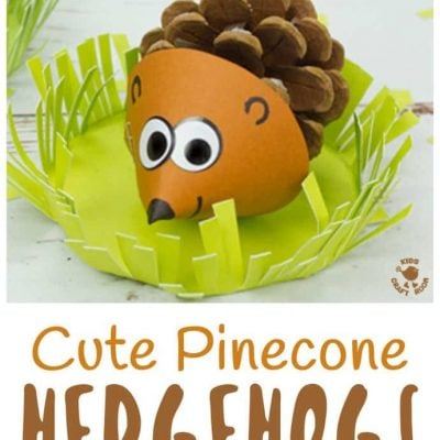 Craft: Pinecone Hedgehog