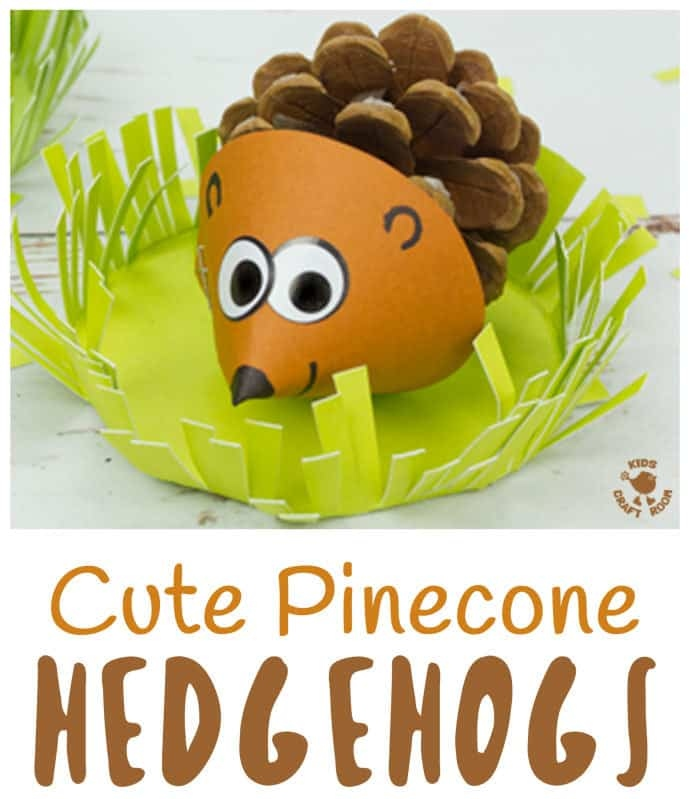 cute pinecone hedgehog craft