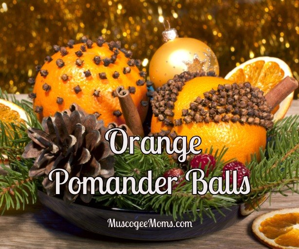 orange pomander balls