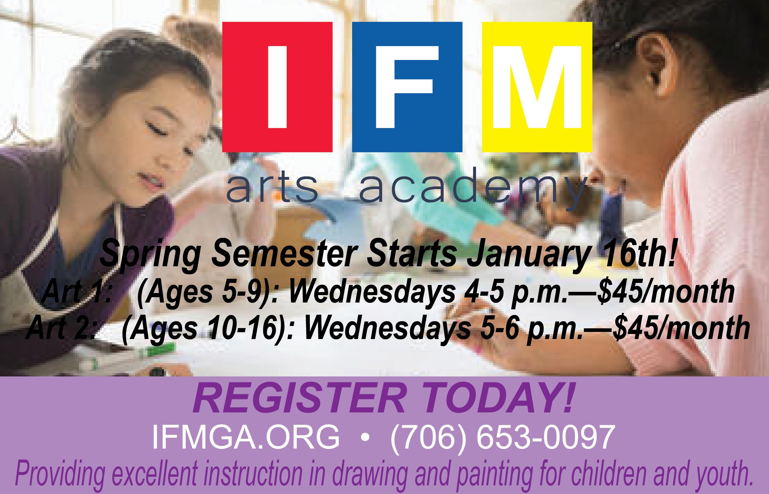 IFM Arts Academy Spring Semester - Muscogee Moms