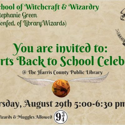 Hogwarts Back to School Celebration- Harry Potter Party