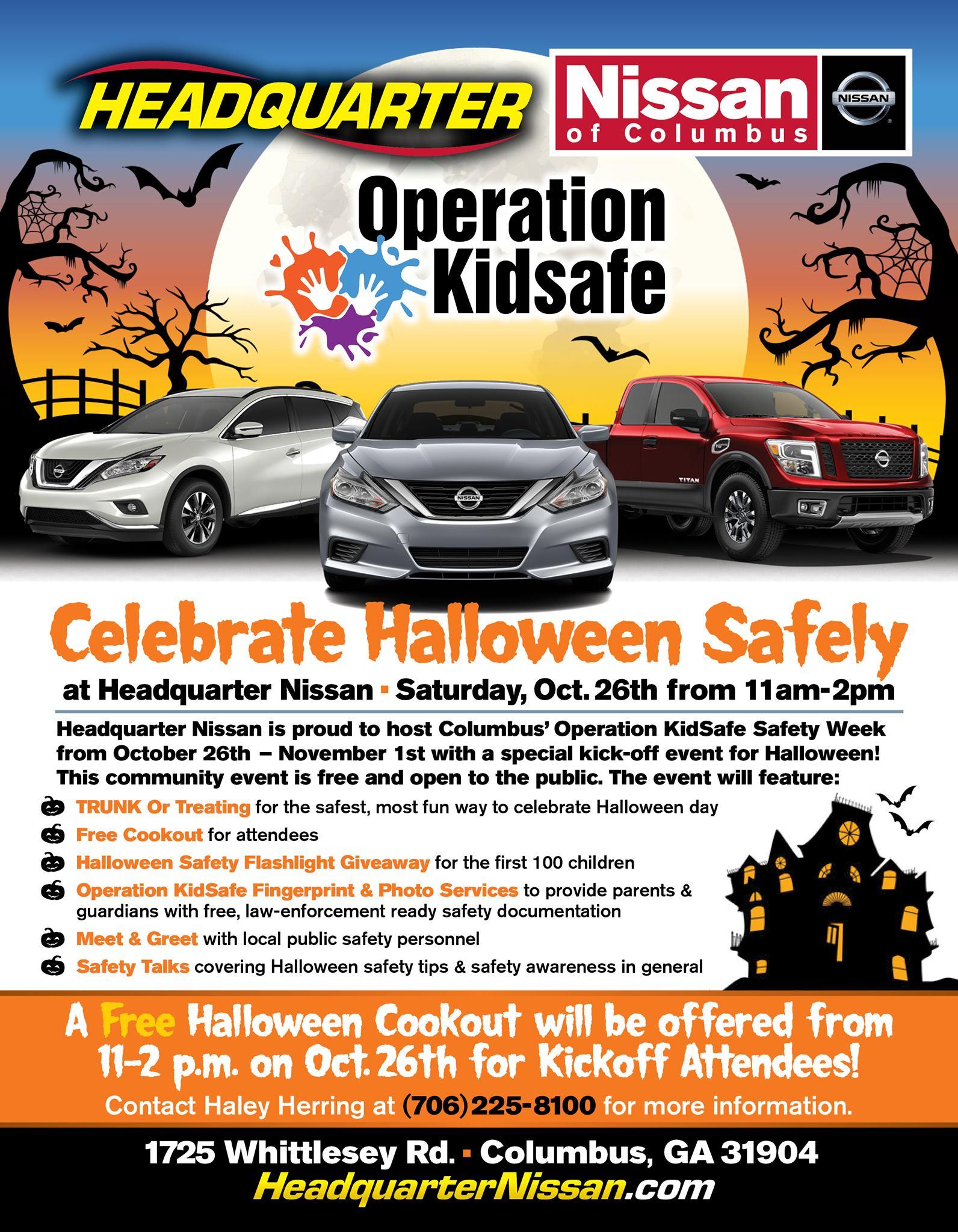 Headquarter Nissan Columbus Ga >> Operation Kidsafe Trunk Or Treat Muscogee Moms