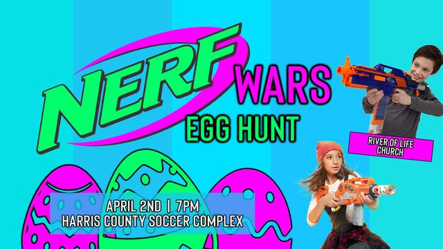 Nerf Wars Egg Hunt